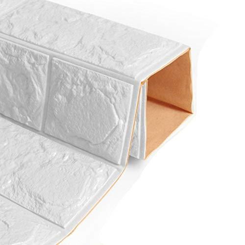Yubingqin Etiquetas engomadas de la Pared para el Dormitorio PE Espuma 3D DIY Auto Adhesivo Paneles de ladrillo Pegatinas de Pared Decoración del hogar Decoraciones de la Escuela de viveros