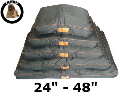 Ellie-Bo Waterproof Dog Beds in Black - Tailor made to fit cages and crates (34' - Fits 36' Large Dog Cage)