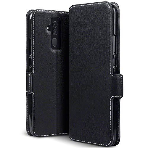TERRAPIN, Kompatibel mit Huawei Mate 20 Lite Hülle, Leder Tasche Hülle Hülle im Bookstyle mit Standfunktion Kartenfächer - Schwarz