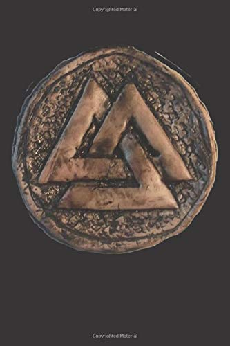 Valknut Amulet: Blank Lined Notebook, Journal or Diary