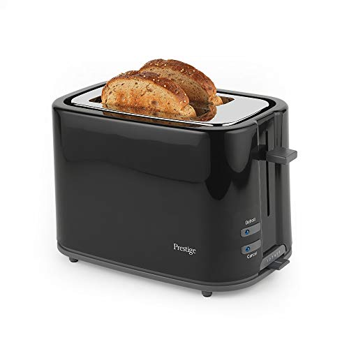 PRESTIGE 55844 Eco 2-Slice Toaster with High Lift and Auto Pop-Up, Black, Plastic, 1200 W