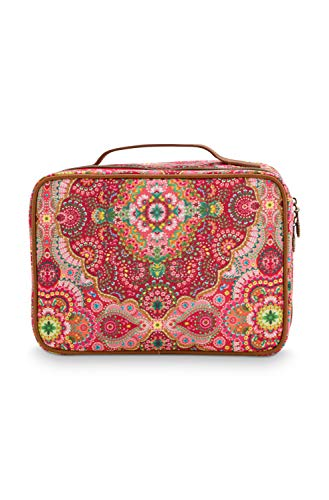 PiP Studio Beauty Case Square Large Moon Delight Red 27x19x10cm