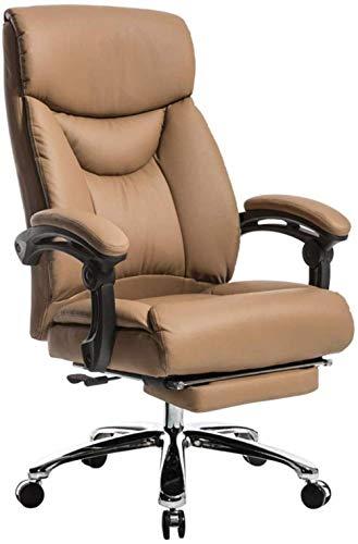 Xiuyun Bürostuhl Computer-Schreibtisch Racing Stuhl PU High Back Großer Sitz und Kippfunktion ultimative Komfort Design mit erweiterten Beinstütze und Lehnstuhl Lagergewicht