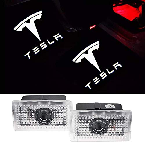 Car Door Led logo Lights Projector Welcome Lamp Ghost Shadow light for TESLA Compatible X S Series...