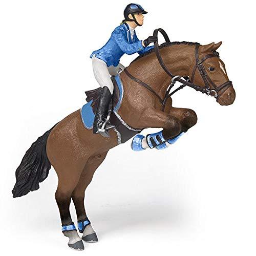 Papo 51560 jumping broek met riding meisje figuur, meerkleurig