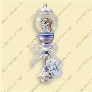 BABY'S 1ST CHRISTMAS CHRISTMAS - SNOW GOLBE RATTLE 2006 Hallmark Ornament QXG2823