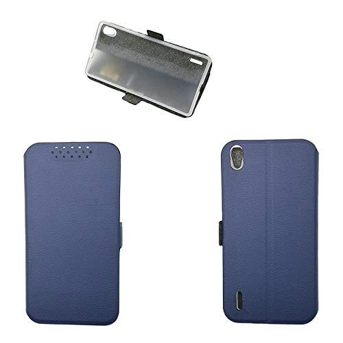 QiongniAN Funda para Huawei Ascend P7 P7-L05 P7-L07 P7-L09 P7-L10 P7-L11 P7-L00 Funda Carcasa Case Funda Blue