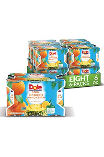 Dole Pineapple/orange Juice Blend, Individual Serving, 6-Ounce Containers (Pack of 48)