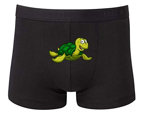 Boxershort - Schildkröte Cartoon Comic Freudig - Unterhose für Herren und Männer