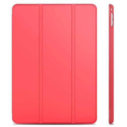 JETech Hülle für iPad Air 2, Schutzhülle mit Ständer Funktion und Auto Schlaf/Wachen, Rot
