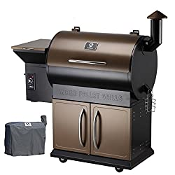 Z Grills Wood Pellet Grill Smoker with 2019 Newest Digital Controls ,700 Cooking Area 8- in-1 Grill, Smoke, Bake, Roast, Braise ,Sear,Char-grill and BBQ for Outdoor