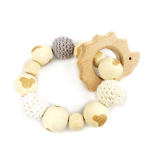 Hedgehog Wooden Teether Chew...