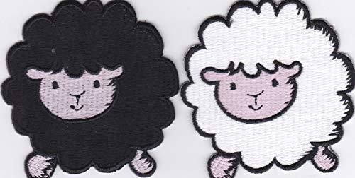 JAB Seller Parche termoadhesivo, diseño de oveja, color negro