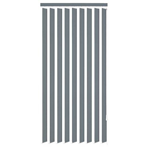 Zora Walter Persianas verticales de tela gris, 120 x 180 cm, para salón, habitación o oficina