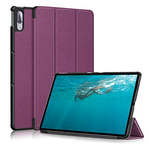 JIENI Funda Lenovo Tab M10 HD (10.1) X306X Funda para Tablet PC (Segunda generación), con función de Reposo y activación/Reposo, púrpura