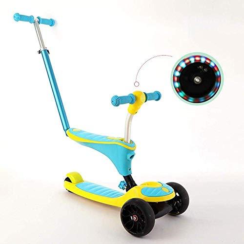 DSHUJC-scooters, scooters voor kinderen, Mini Micro Deluxe-scooters, scooters voor jongens en meisjes van 1-15 jaar, roze en blauw