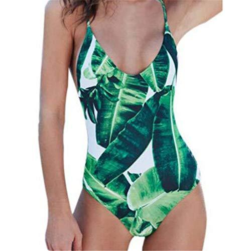 Traje de baño de Ropa de Playa para Mujer Mujer de Cintura Alta Bikinis Tie Knot CORTETE DE TIRIFICAJE DE Corte DE TIRIFICAJE Traje de baño (Color : Verde, Size : M)