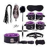 Śëx TÔys for Couple Hạndcụffs fọr Śëx Sė&x Sťụff fọr Ạdụlts Cọụplės ɃDŠM Sets for Cọụplės Śëx Ḅọndạged Gear&Accessories Bǒǹdâgêd Kit Adult Furniture Hạnḍcụffs for Couple Àḍụlţ 11pcs&Purple