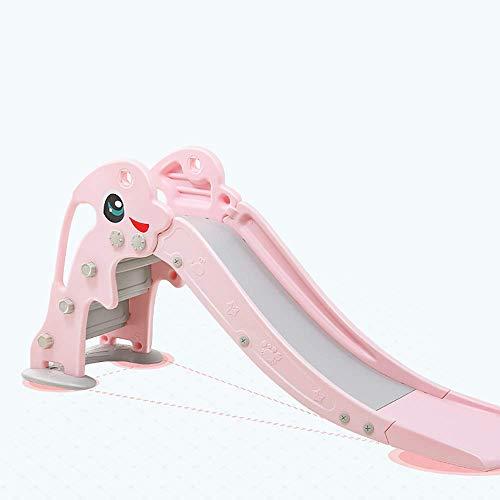 Infantil cubierta exterior de plástico espesado Alargado Diapositivas, Diapositivas Inicio Zona de juegos, diapositivas plegable, equipado de forma de U base for evitar vuelcos WTZ012 ( Color : Pink )