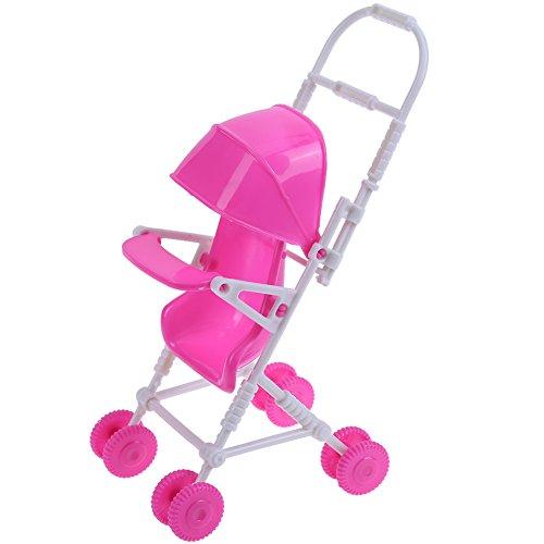 Broadroot 9pcs Miniatur Kunststoff Puppe Kinderwagen Trolley Kindergarten Spielhaus Kinder Spielzeug