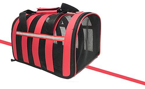Aida Bz Pet boîte d'air Chat et Chien Fournitures Pet Portable Cage en Plastique Chien de Transport Cage Pet Box avec Sac Pet Out étui de Portage,Red,L
