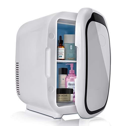 Mini Frigo Portatile Frigorifero Capacità 6L con Funzione Caldo Freddo per Auto Camper Casa Ufficio e Dormitori 12 24V DC