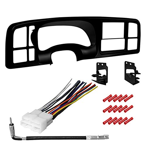 CACHÉ KIT2727 Bundle with Car Stereo Installation Kit for 1999 – 2002 Chevy Silverado 1500 – in Dash Mounting Kit, Antenna, Harness, for Double Din Radio Receivers (4 Item)