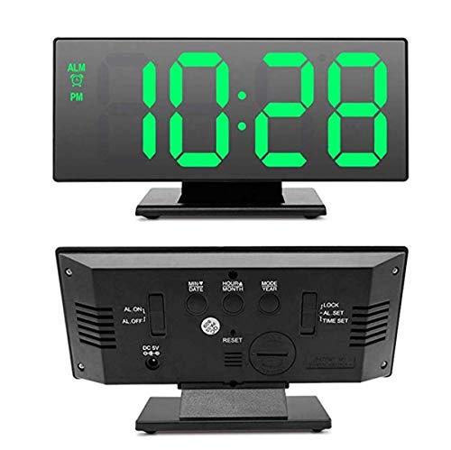 YYJYSM Pantalla electrónica de Temperatura Tabla Reloj multifunción Pausa Noche Número Gran Pantalla de LED Relojes de Escritorio de Alarma para Sala de Estar/Oficina/casa/decoración d