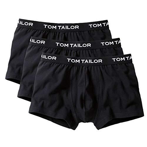 TOM TAILOR Boxer Briefs, Herren Boxershorts, 3er Pack (L / (6), 3 x schwarz)