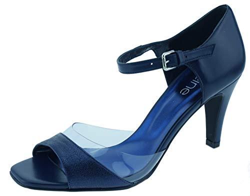 Heine 2778 Sandaletten dunkelblau metallic, Groesse:38.0