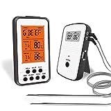 Zebbyee Thermometre Cuisine, BBQ Thermomètre Sonde pour Cuisson au Four, Thermomètre à Viande avec Mode de Minuteur Alerte, Température Programmable