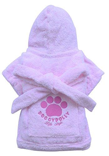 Doggy Holly DRF018 hondenmantel, roze, L - Poitrine : 46-48 cm - Dos : 31-33 cm, Roze
