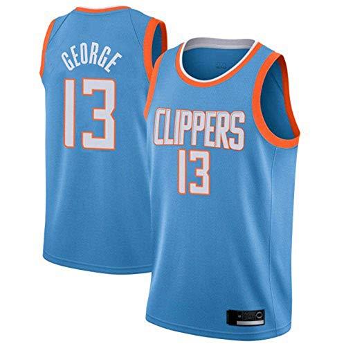 WSWZ Camiseta De Baloncesto NBA para Hombre, Camiseta LA Clipper NBA 13# Paul George, Camiseta De Baloncesto Swingman Cómoda Camiseta Deportiva,B,M(170~175CM/65~75KG)