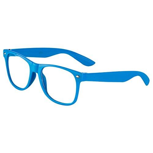 Ciffre Ciffre Nerdbrille Sonnenbrille Stil Brille Pilotenbrille Vintage Look Klar Glas Türkis