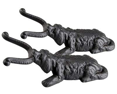 Esschert Design Cast Iron Dog Boot Pullers, Pack of 2