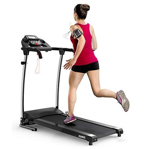 KUOKEL Laufband klappbar Laufbänder Lauftrainer mit digitalem Monitor, 12 voreingestellte Programme 10 km/h Heimtrainer Fitnessgerät bis 100 kg belastbar