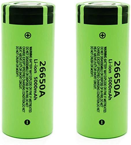 Batería Original De 3.7V 5000Mah 26650A Baterías Recargables De Iones De Litio De Alta Capacidad para Linterna Led 2Pcs