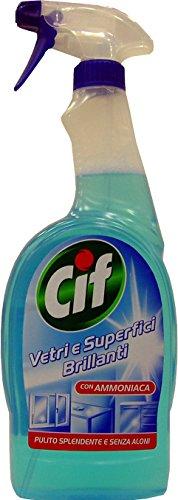 12 x CIF Vetri & Superfici Spray Con Ammoniaca 750 Ml