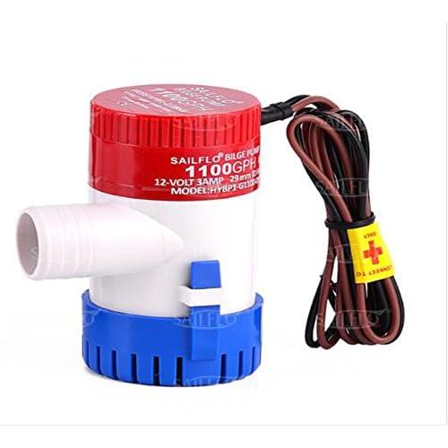 Pompa di sentina 350/500/750/1100 gph 12 V Bilge plastica sommergibile acqua pompe, 1100GPH