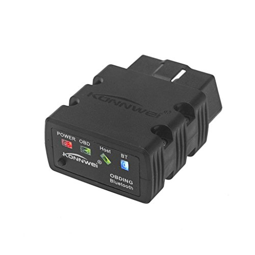 KONNWEI Kw902 Mini Bluetooth 2.1 OBD II, Strumento di scansione diagnostica dell'automobile, Nero