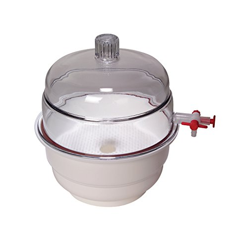 United Scientific 55201 Polypropylene Non Vacuum Dessicators with Polycarbonate Cover, 152.4mm Diameter