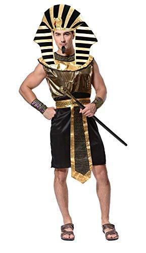 KIRALOVE Costume Egiziano - Sacerdote - Faraone - Tutankhamon - Travestimenti - Halloween - Carnevale - Cosplay - Accessori - Uomo Ragazzo - Taglia Unica - Idea Regalo Originale