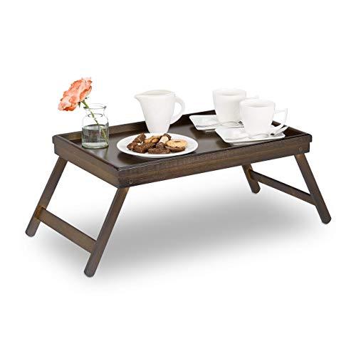 Relaxdays 10023235 Tavolino con Gambe Richiudibili Colazione