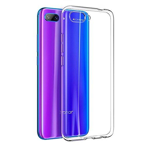 REY Funda Carcasa Gel Transparente para Huawei Honor 10, Ultra Fina 0,33mm, Silicona TPU de Alta Resistencia y Flexibilidad