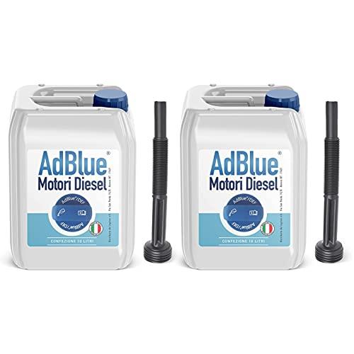 AdBlue Additivo Gas di Scarico Motori Diesel con Tubo di Riempimento - Made in Italy Conforme ISO 22241… (20 Litri)