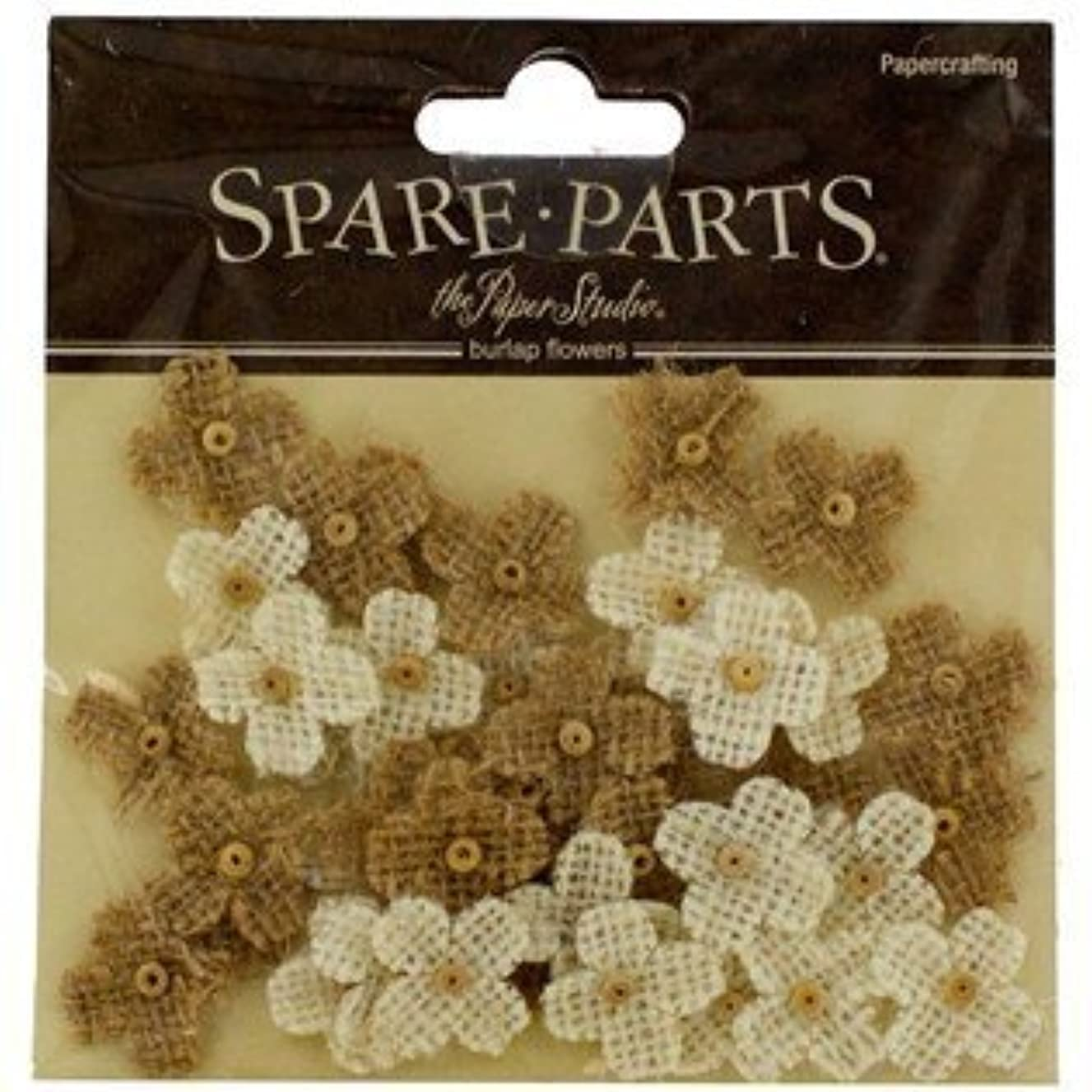 40-Piece Burlap Bead Flowers