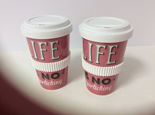 Coffee2go-Becher VintageArt Life is no sugarlicking