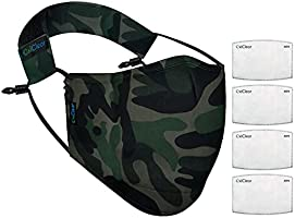 OxiClear N99 Anti Unisex Pollution Face Mask with 4 Activated Carbon Filters & Detachable Headband D.R.D.O Certified...