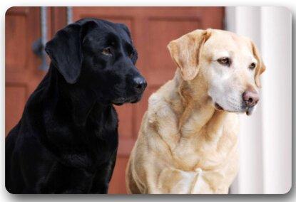Animales Perro Labrador Cachorro Alfombrilla Felpudo para Puerta Alfombrilla Antideslizante de Goma de Neopreno Felpudo se Puede Lavar a máquina. (23.6x15.7, L x W)