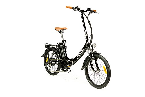 Moma Bikes ebike 20.2 Vélo Pliant Électrique Adulte Unisexe, Noir, Unic Size